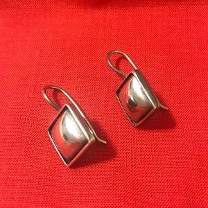 Silpada .925 sterling silver cushion earrings